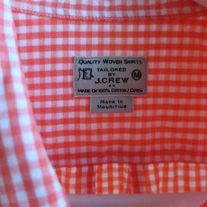 J Crew Short Sleeve Gingham Shirt